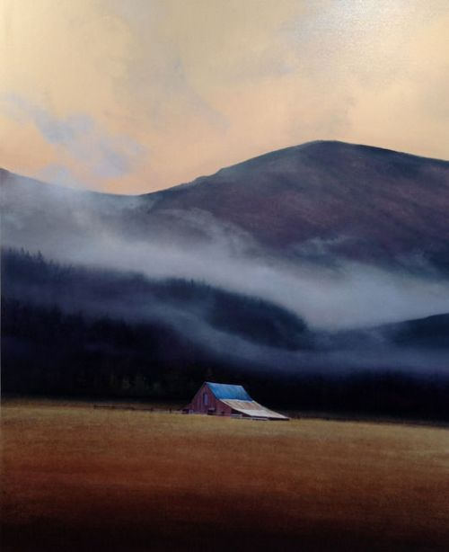 Sand Hill, 2013. Oil painting by American realist painter Michael Gregory