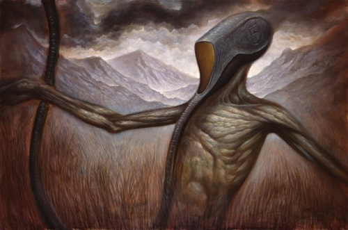 Scary surrealism painter Chet Zar