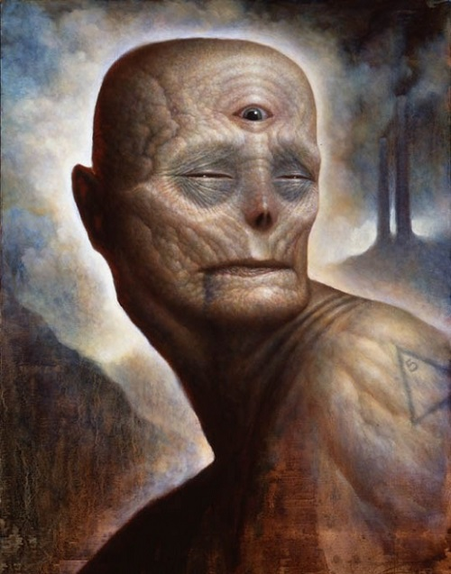 Scary surrealism in painting by Chet Zar