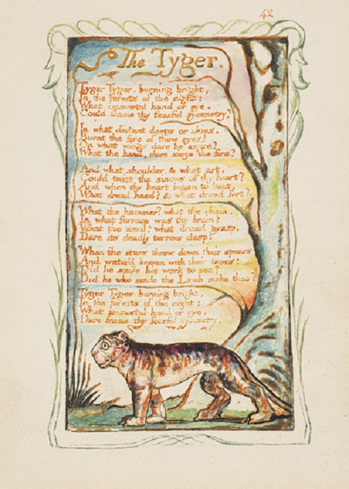 Songs of Innocence and of Experience: The Tyger (Plate 42), 1794/ca. 1825