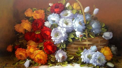 Still life painting by Brazilian self-taught artist Jorge Maciel