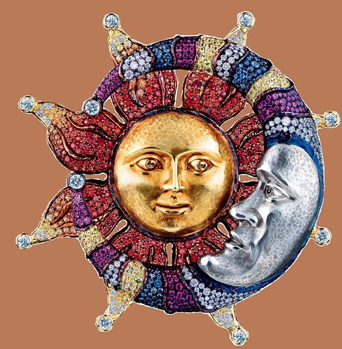 Sun inspired jewellery art