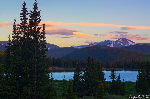 Sunrise Over Echo Lake. American nature photographer John De Bord