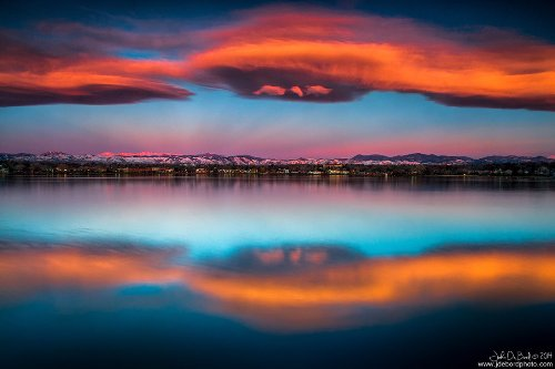 Sunrise Over The Front Range. American nature photographer John De Bord