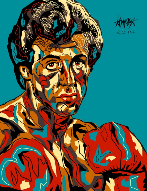 Sylvester Stallone. Pop Culture digital Illustration by Filipino artist Dri Ilustre
