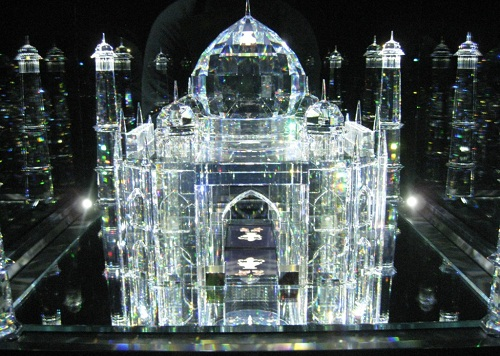 Taj Mahal crystal miniature in Austrian museum of Swarovski