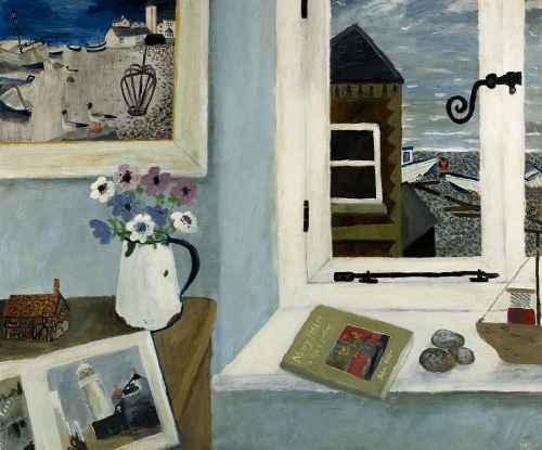 The 3 Marys. Naive Painting by contemporary British artist Gary Bunt