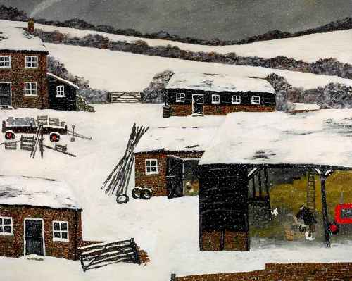 The North Wind. Naive Painting by English artist Gary Bunt
