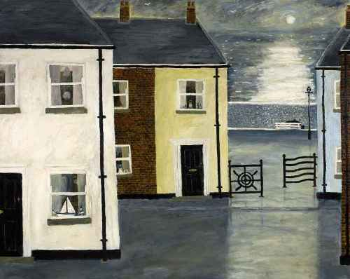 The Old Crag Path. Naive Painting by English artist Gary Bunt