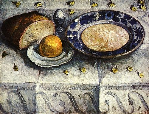 The breakfast table. 1905. German expressionist painter Paula Modersohn-Becker