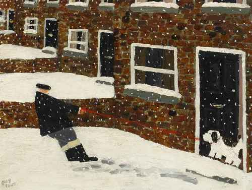 Walkies (I Don't Think). Naive Painting by English artist Gary Bunt