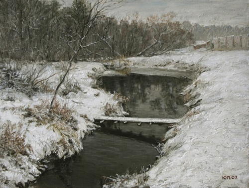 Warm winter. 2007. Painting by Yuri Pantsyrev