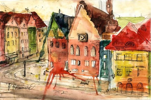 Marianna Murzilkina watercolors
