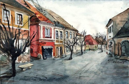 Watercolor painting by Russian artist Marianna Fedorova (Murzilkina)
