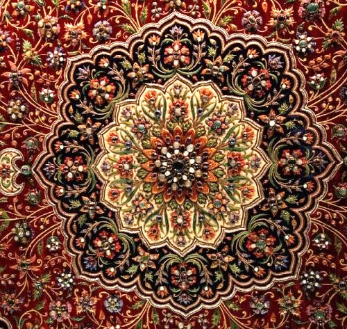 Zardozi Embroidery Art Kaleidoscope