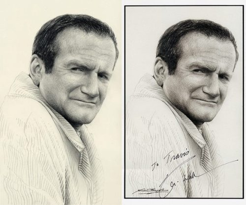 Robin Williams pencil drawings by Henderson