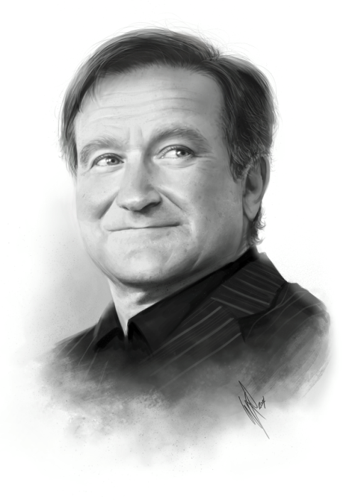 Robin Williams pencil drawings by Warren Louw