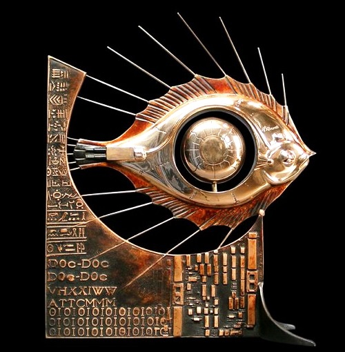 fish eye. Steampunk Sculpture by Pierre Matter