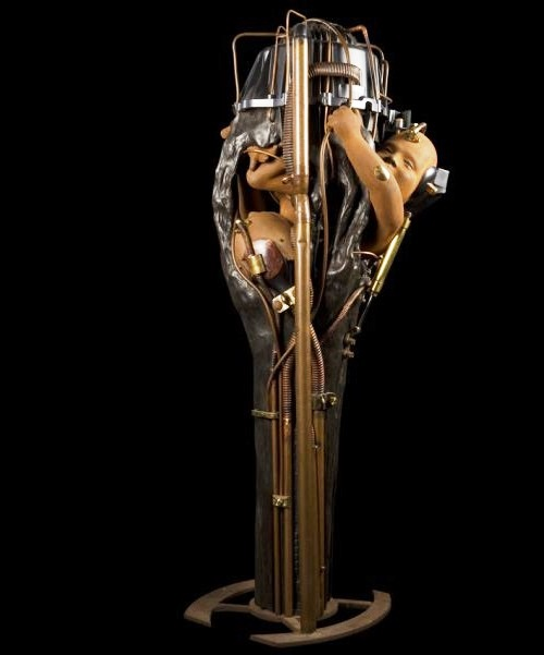 the twins. Steampunk Sculpture by French artist Pierre Matter
