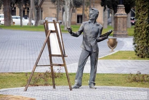 A monument to the artist in Baku, Azerbaijan