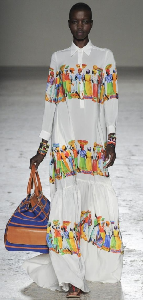 African motifs in Stella Jean's Summer 2015 collection