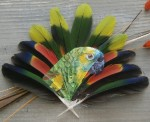 Feather painting by Jamie Homeister