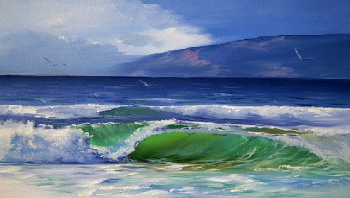 Baikal wave, 2007. Oil on canvas
