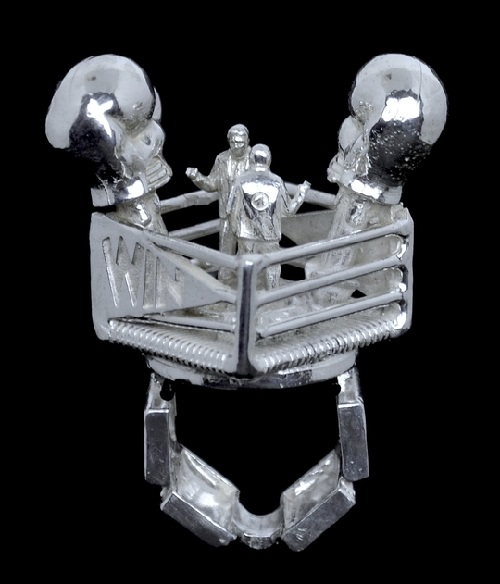Boxing Ring. Jewelry art message by Rebecca Rose