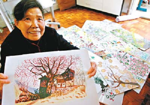 Chang Xiufeng 80 year-old Grandma Van Gogh