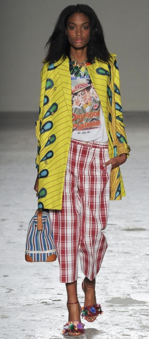 Colorful African motif prints in Stella Jean summer 2015 collection - a manifestation of art in fashion