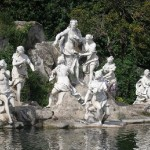 Diana and the nymphs. Fountain, Caserta Royal Palace