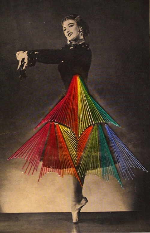 Embroidered dance by Chilean artist Jose Romussi