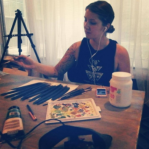Jamie Homeister in her studio