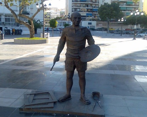 Monuments to artists. Monument to Picasso in Torremolinos, Spain