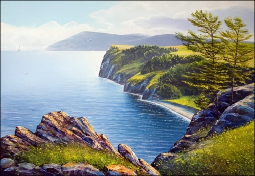 Olkhon Island (Lake Baikal). Oil on canvas. 2008