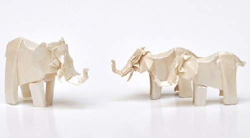 Origami animals jewelry, Artwork by French designers Arnaud Soulignac and Claire Naa
