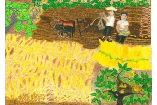 Painting by Chinese 80 year-old self-taught artist Chang Xiufeng