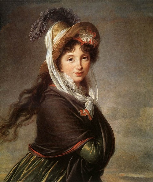 French painter Louise Elisabeth Vigee Le Brun