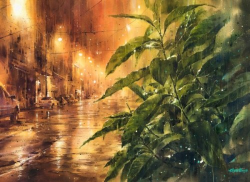 Rainy cityscapes by Ching-Che Lin