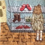 Stitched painting by Michelle Kingdom