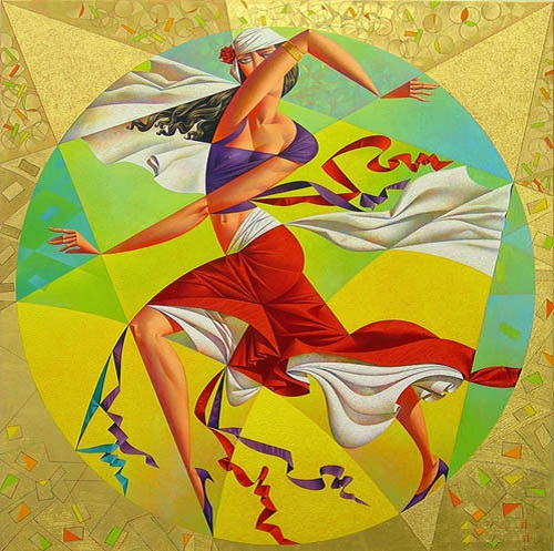 The Dance. Geometrical painting by Georgy Kurasov