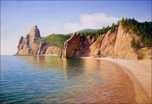 The Peschanaya bay (Baikal Lake). 2006 oil on canvas