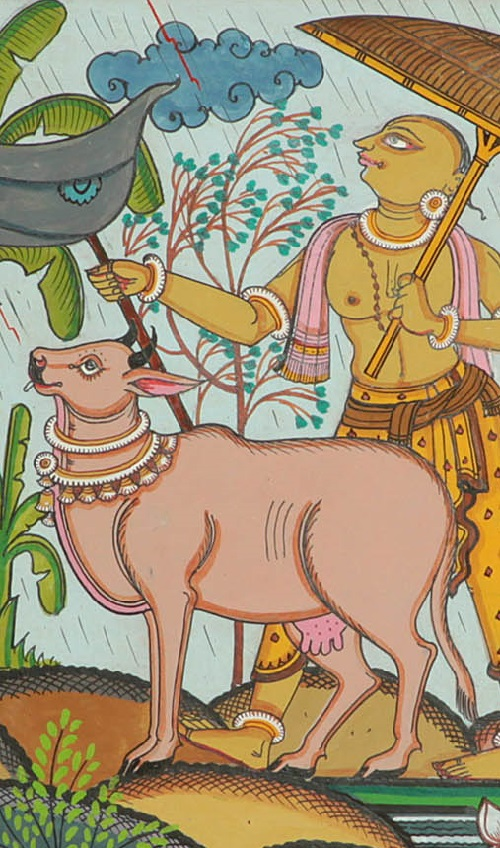 The Rainy Season India Folk painting