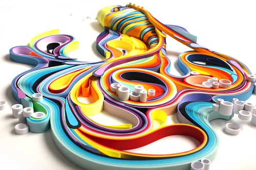 Three-dimensional paper quilling by Russian artist Yulia Brodskaya