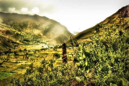 Urubamba in Peru. Canadian photo illustrator Stuart Deacon