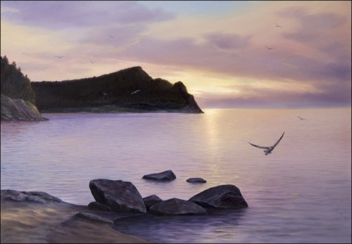 View of the Cape Watchdog. morning. 2006 oil on canvas
