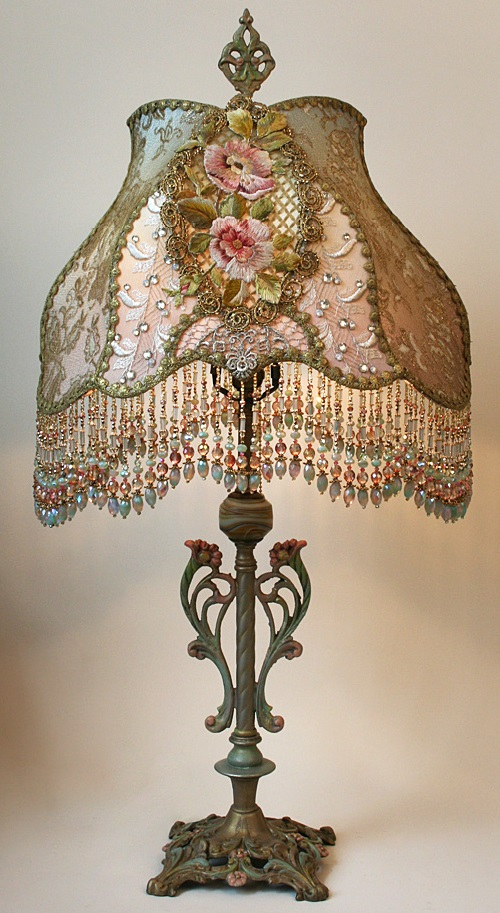 Vintage lamp art by Christine Kilger