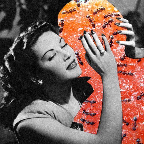 Candy-Man. From the series of collages 'Oh, L'amour'