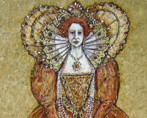 Embroidery art by costume designer Michele Carragher