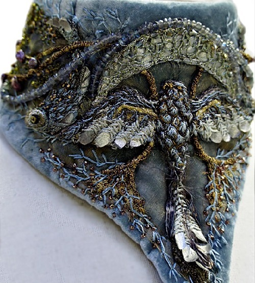 Embroidery art by Michele Carragher